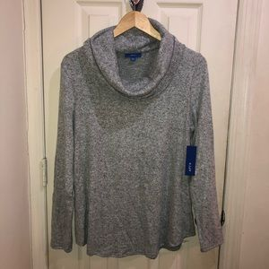 Gray Cowl Neck Top size Large